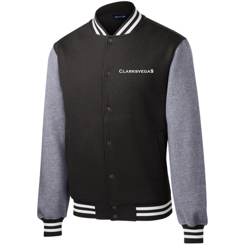 Clarksvegas White Fleece Letterman Jacket