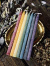 7 Pack Mini Chakra Beeswax Taper Candles
