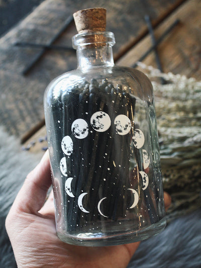 Astronomy Large Apothecary Match Bottle