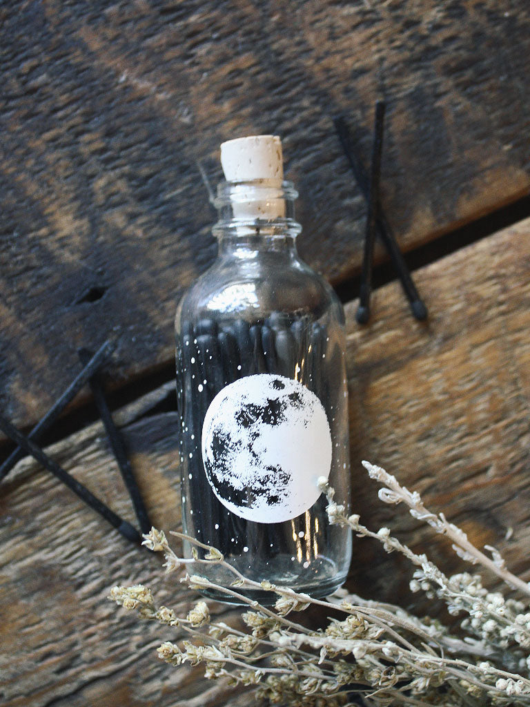 Astronomy Mini Apothecary Match Bottle