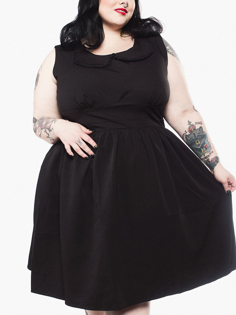 Blackest Black Shift Dress