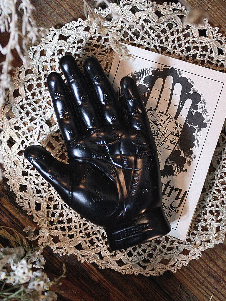 Black Palmistry Hand with Guidebook