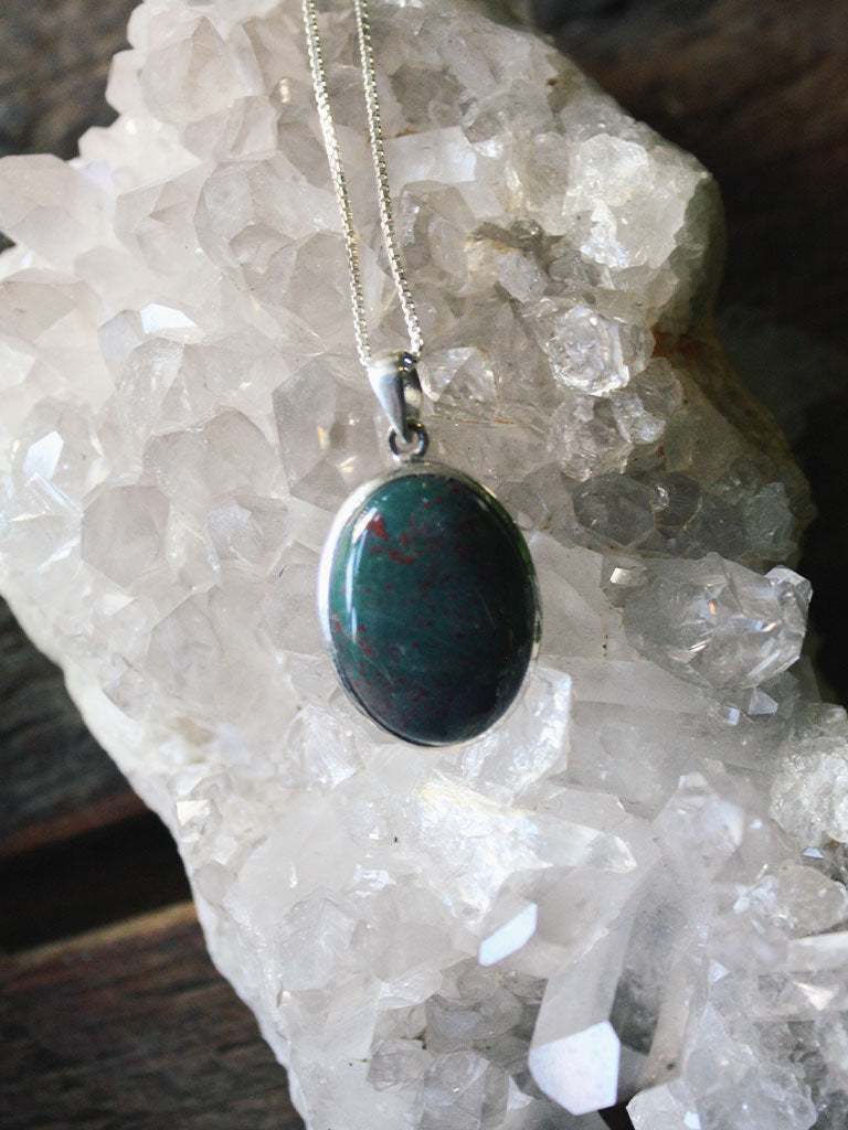 Bloodstone Sterling Silver Necklaces