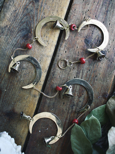 Brass Crescent Moon Wind Chime