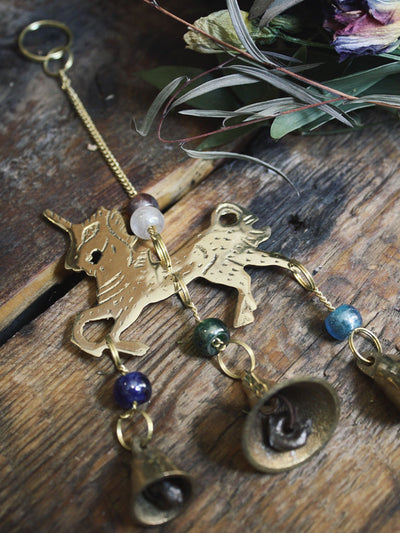 Brass Unicorn Wind Chime