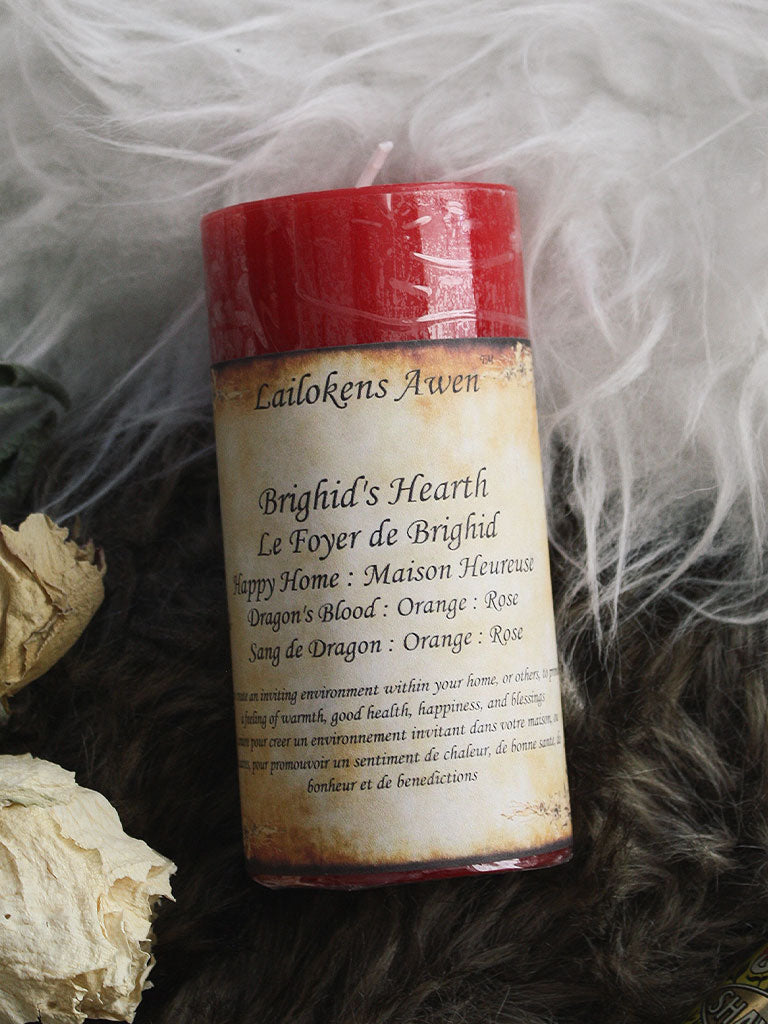 Brighids Hearth Pillar Spell Candle