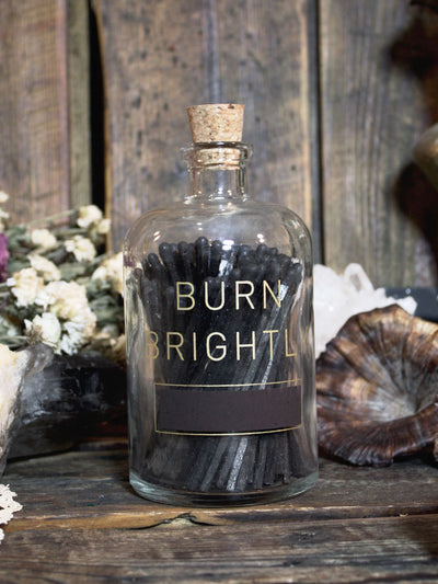 Burn Brightly Large Apothecary Match Bottle