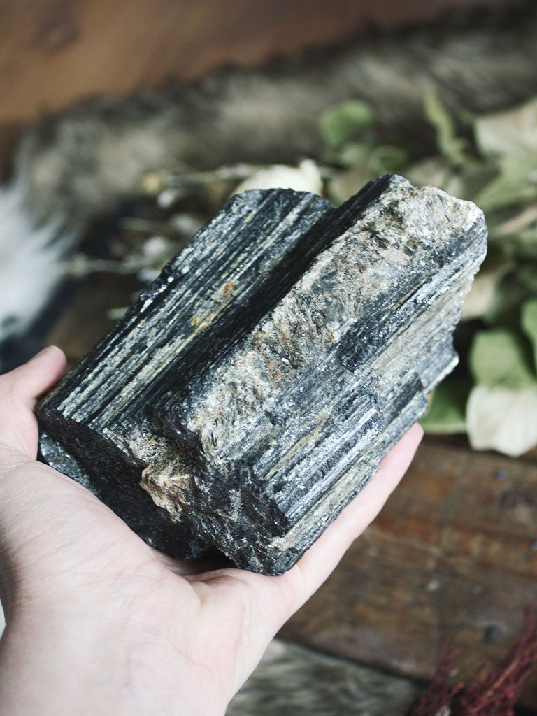 Large Raw Black Tourmaline - C142