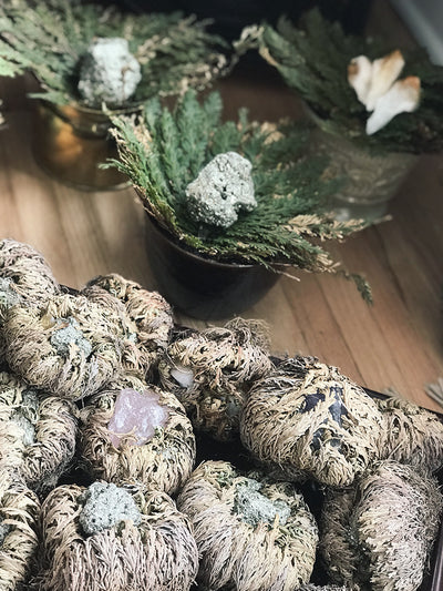 Crystal Filled Rose of Jericho - RJ16