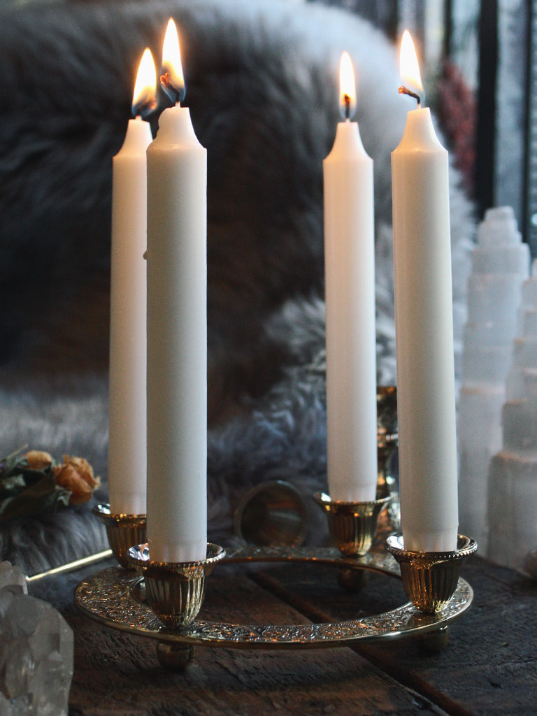Call the Corners Brass Candle Holder