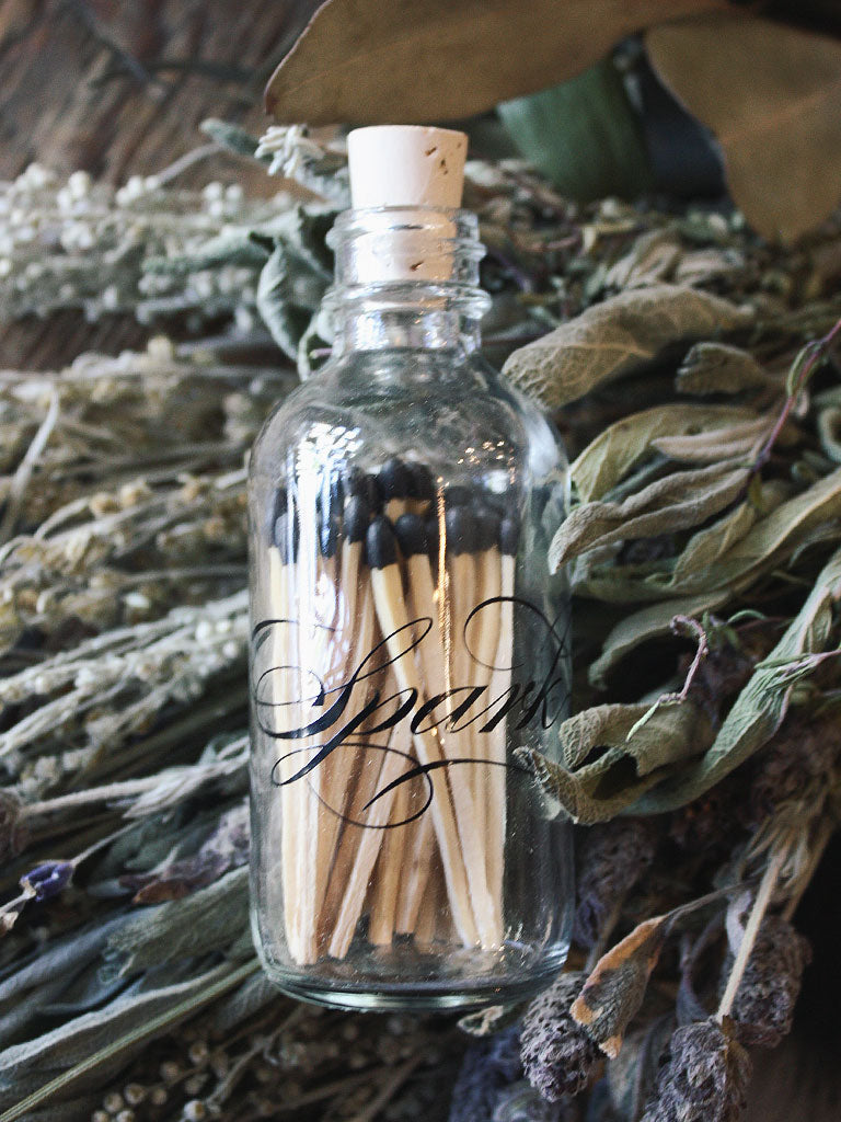 Calligraphy Mini Apothecary Match Bottle