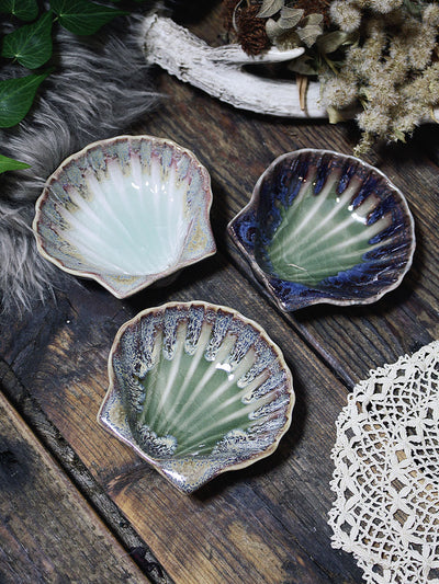 Ceramic Clam Shell Dishes