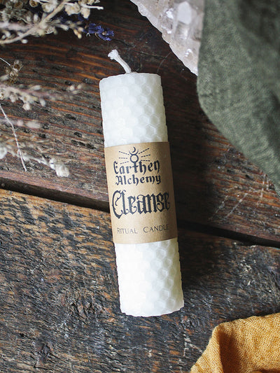 Cleanse Beeswax Ritual Candle
