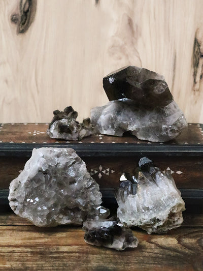 Raw Smokey Quartz Clusters