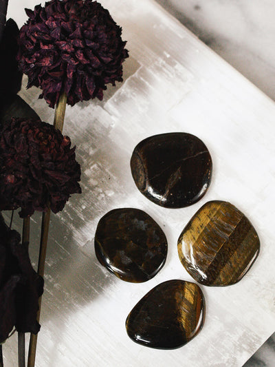 Gold Tigers Eye Pocket Stones