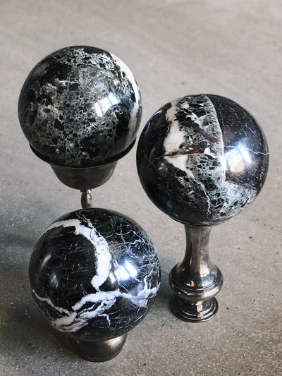 Midnight Marble Crystal Spheres