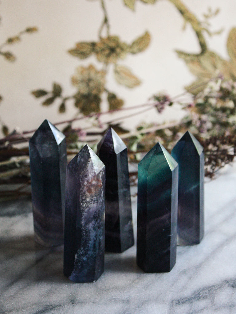 Small Rainbow Fluorite Towers