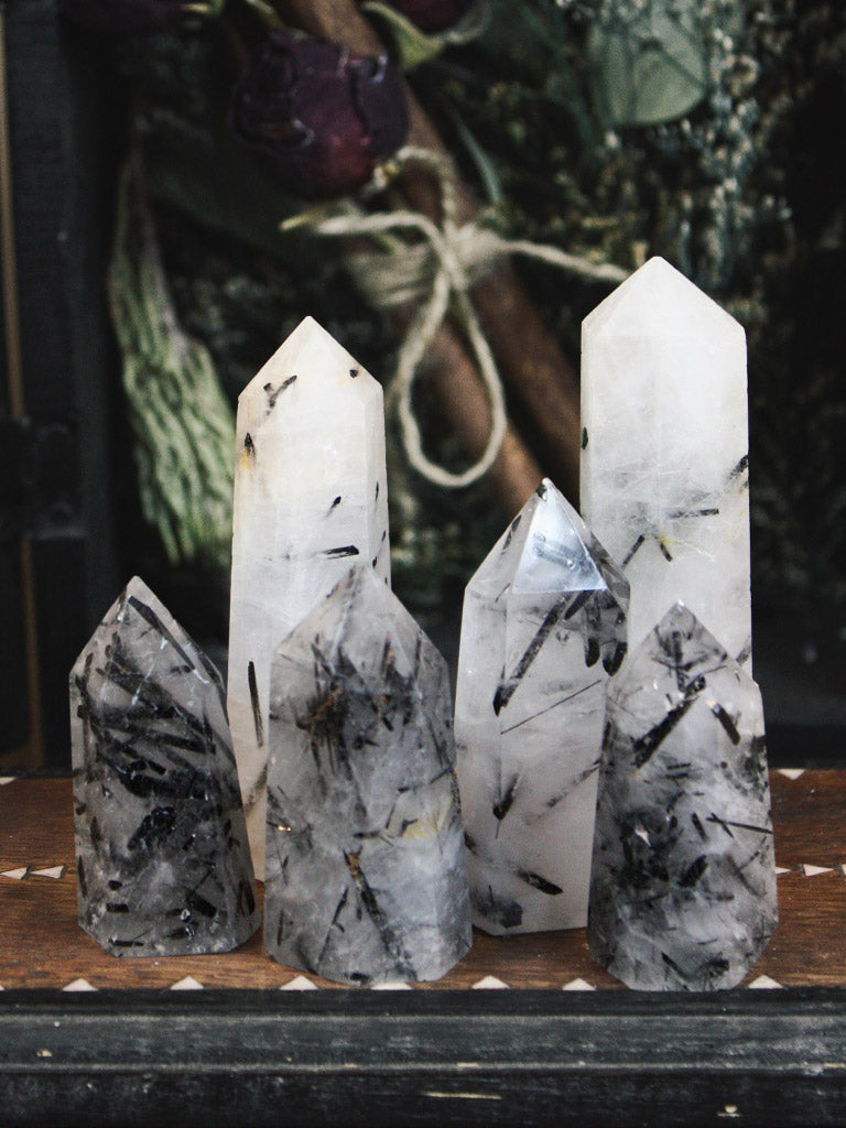 Tourmaline in Quartz Towers