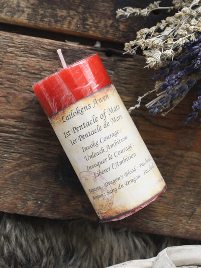 First Pentacle of Mars Spell Candle