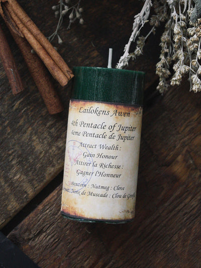 Fourth Pentacle of Jupiter Spell Candle