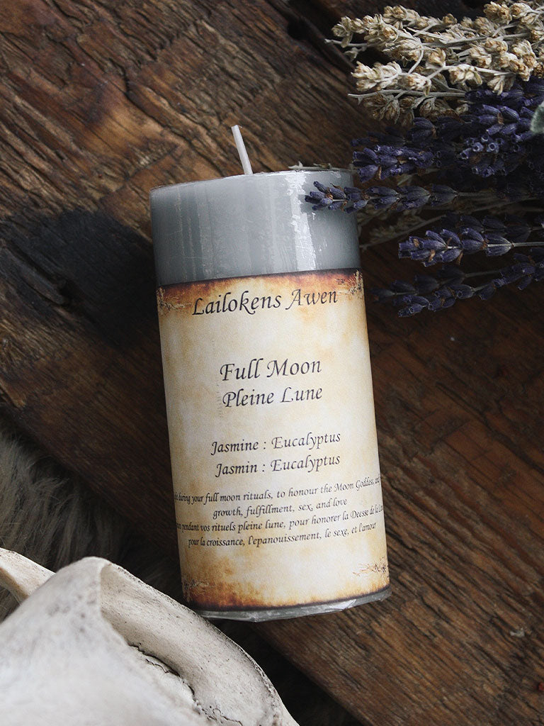 Full Moon Pillar Candle