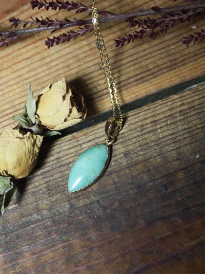 Gold Chrysoprase Necklace - N261