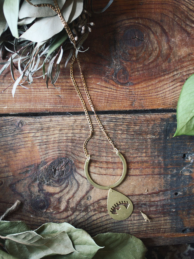 Graphic Brass Necklaces
