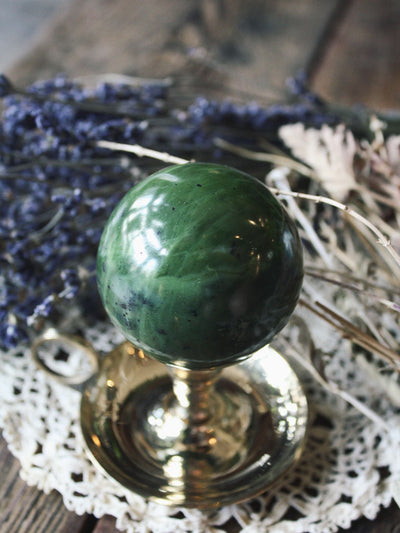 Green Jade Sphere - C270