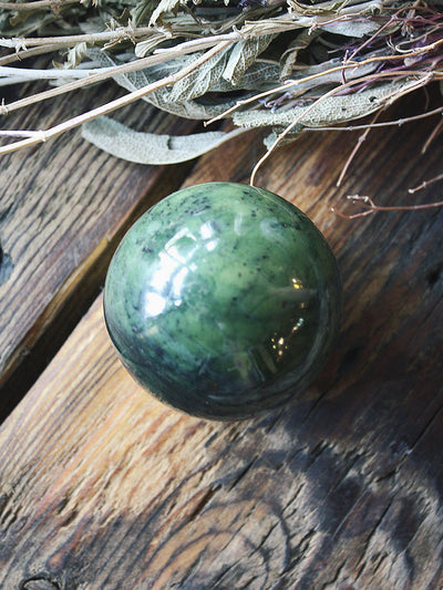 Green Jade Sphere - C272