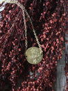 Hand-Engraved Brass Hekate Necklace
