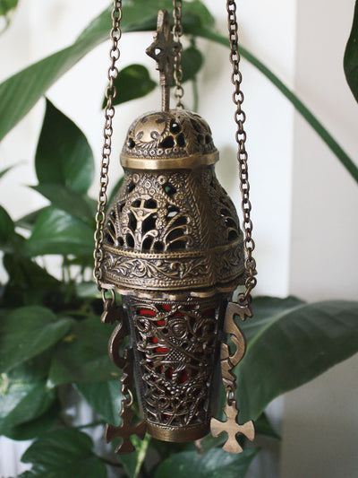 Hanging Brass Church Incense Censer