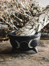Triple Moon Soapstone Bowl