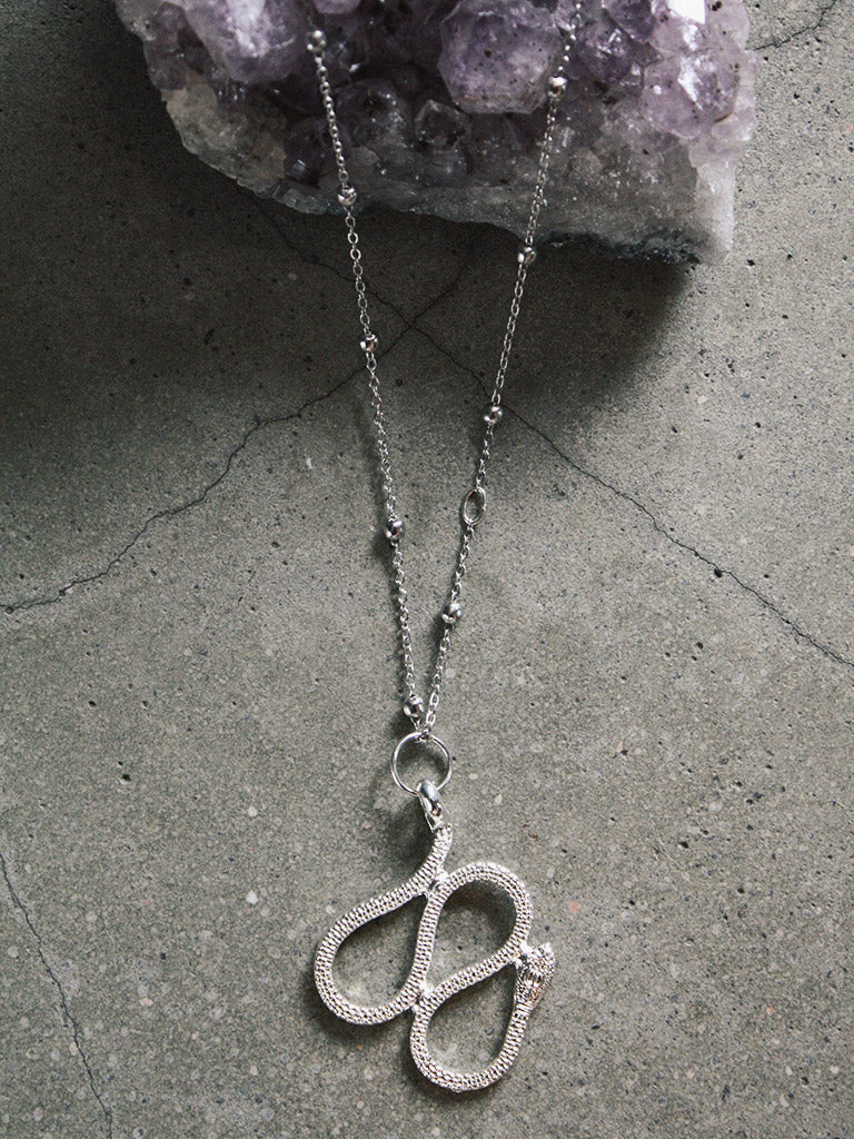 Silver Snake Necklace