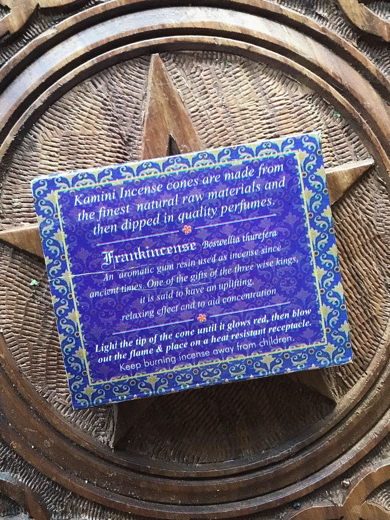 Kamini Frankincense Incense Cones