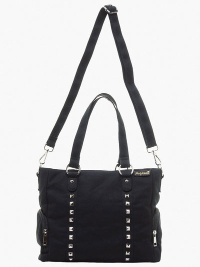 Leda Studded Purse in Black