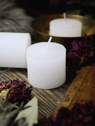 Large White Votive Candles