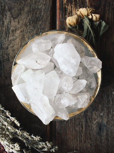 Lovely Raw Clear Quartz Pieces