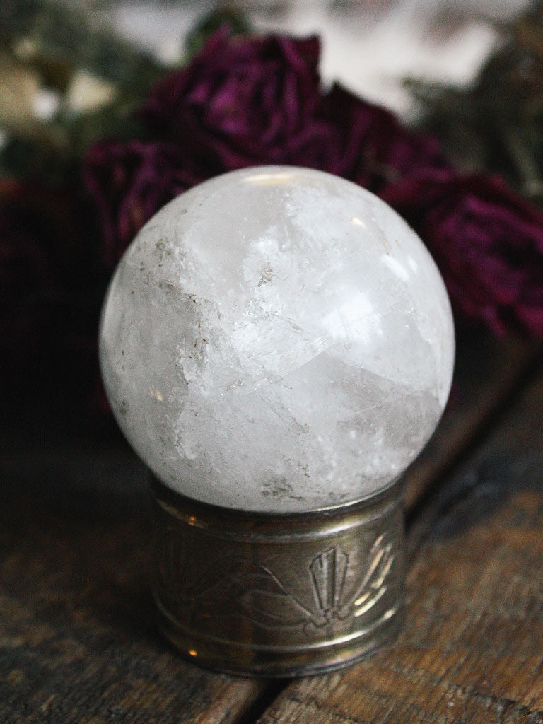 Medium Clear Quartz Sphere D