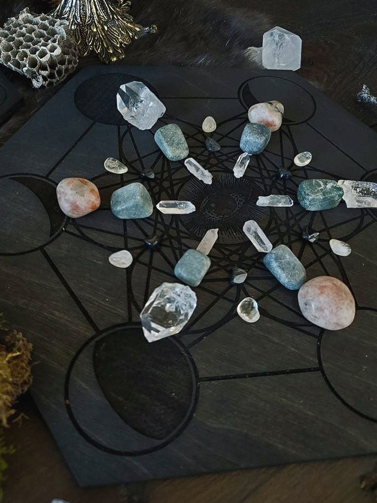 Metatron's Cube Seeing Eye Crystal Grids
