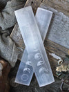 Moon Phase Engraved Selenite Wands