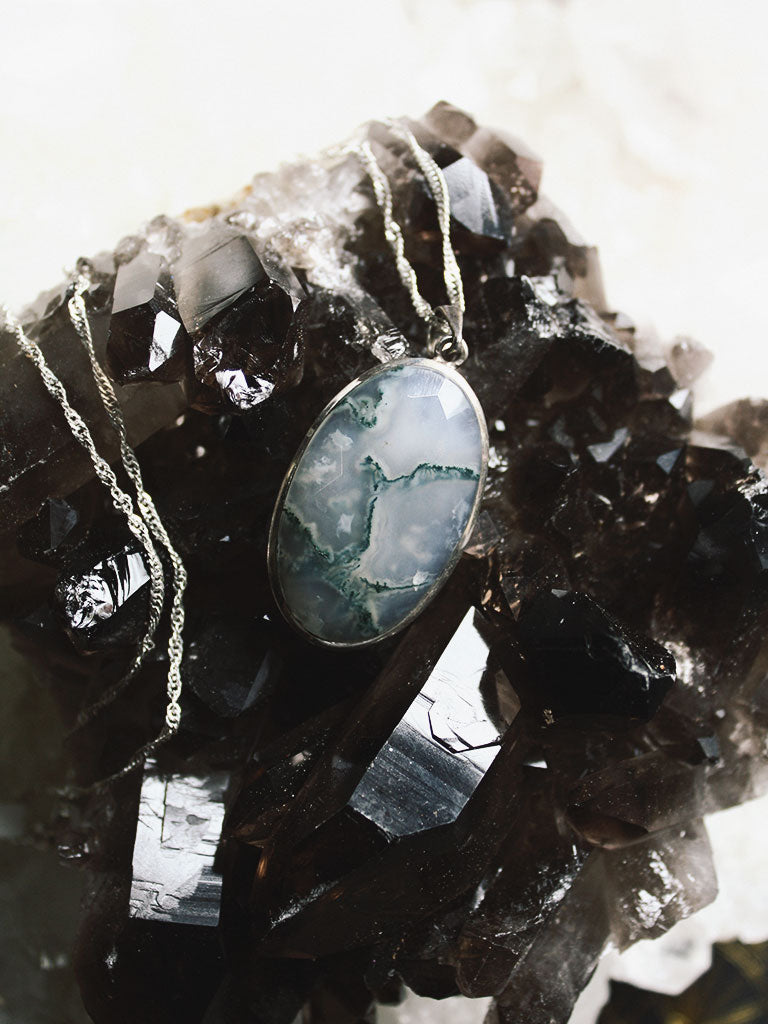 Moss Agate Necklace - N111