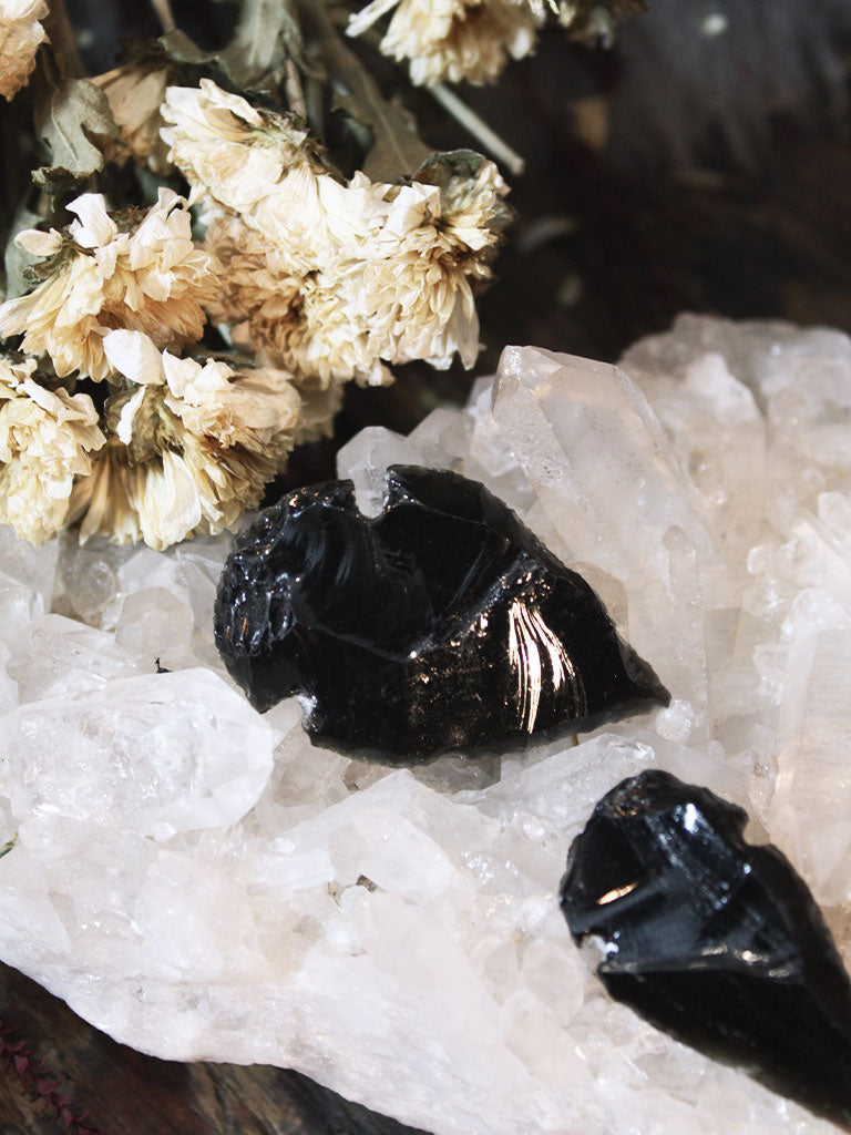 Obsidian Arrow Heads