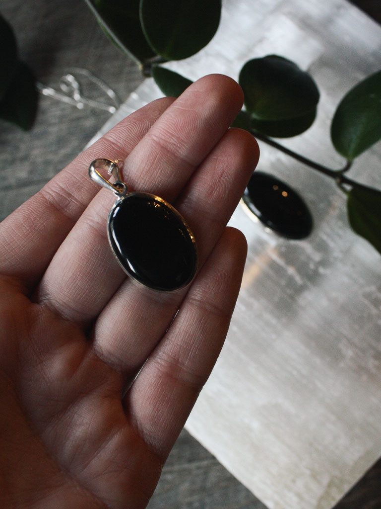 Obsidian Sterling Silver Necklaces