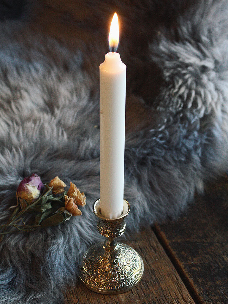 Ornate Brass Candle Holder