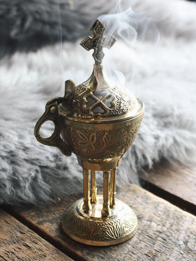 Ornate Brass Church Incense Burner