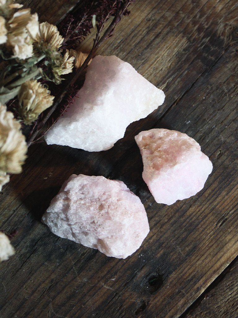 Pink Aragonite Pieces