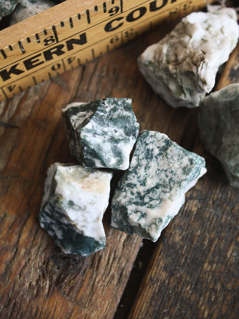Raw Moss Agate Pieces