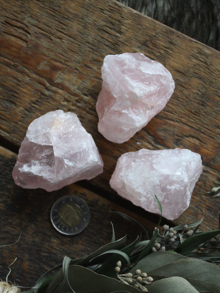 Raw Rose Quartz Pieces