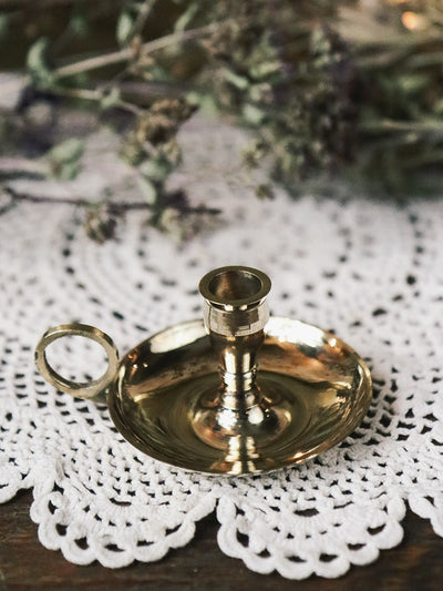 Mini Brass Chime Candle Holders