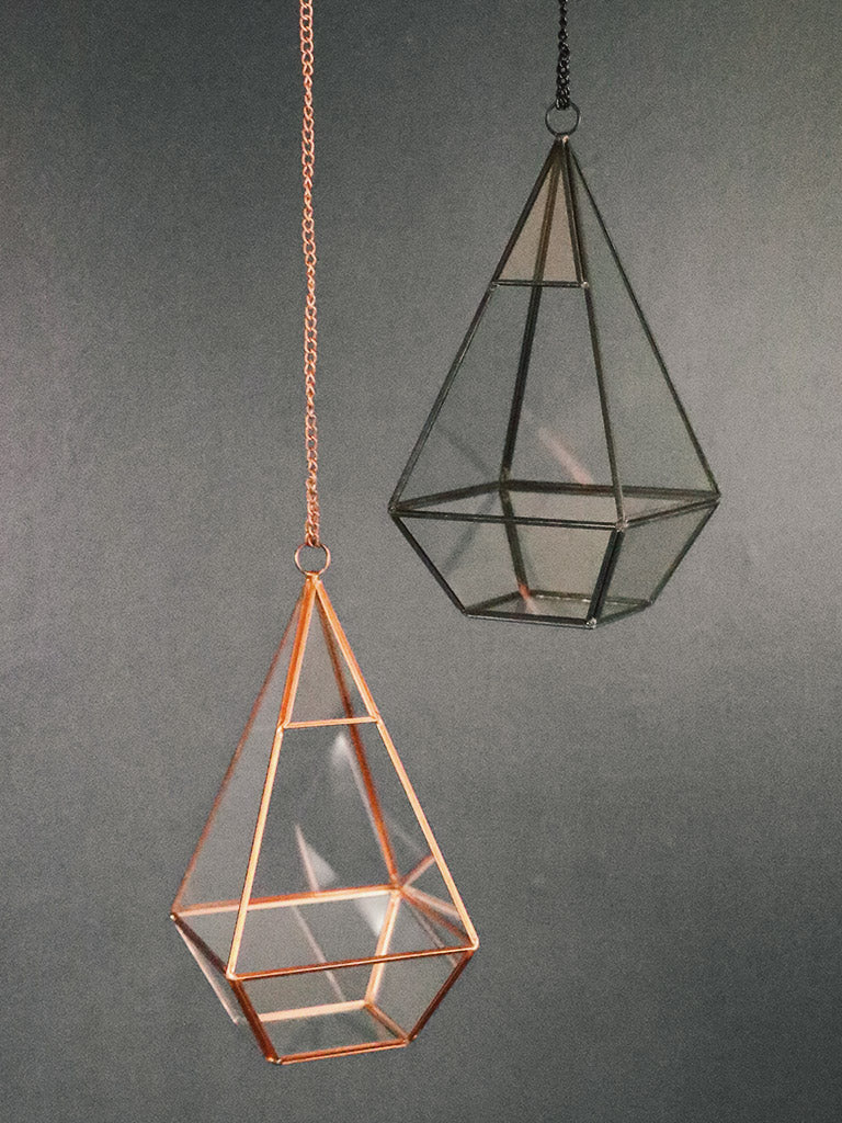 Pointed Hanging Terrarium